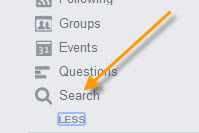 Remove Facebook Search History