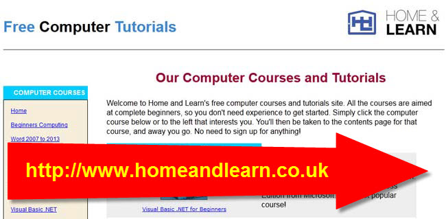 Top 10 Sites for Programmer to Get Free Tutorials and Resources-homeandlearn.co.uk