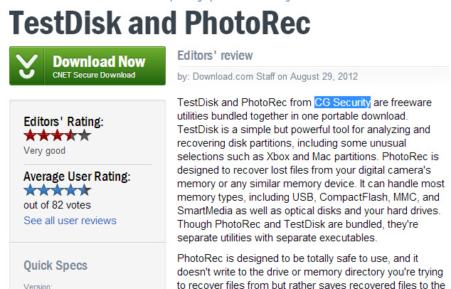 PhotoRec and TestDisk file recovery tools