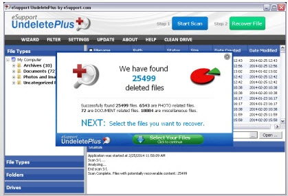 Undelete Plus data recovery