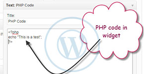 Allow PHP Code in WordPress Widget Area Without Plugin