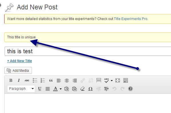 How to Avoid Duplicate Post title in WordPress