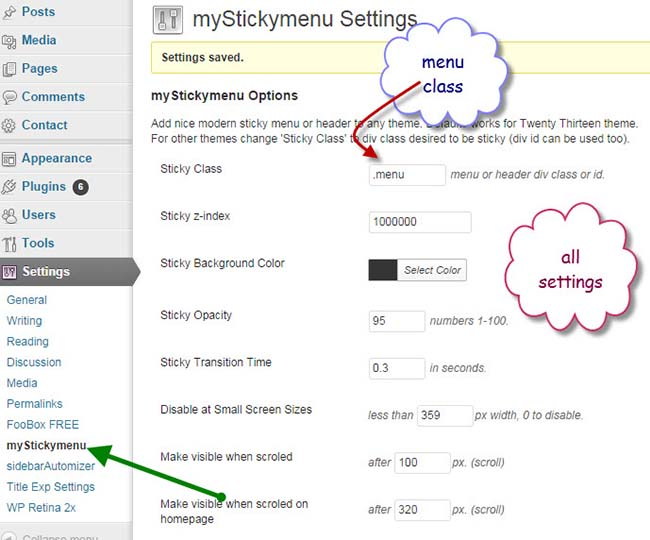 sticky-wordpress-menu