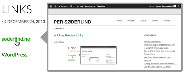 Show-Live-Preview-Links-WordPress3