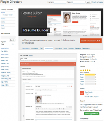 How To Create An Online Resume Using WordPress Resume Builder