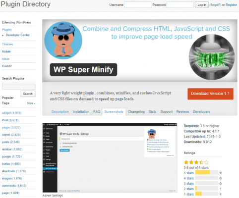 How to Minify Your Websites CSS HTML Javascript WP Super Minify