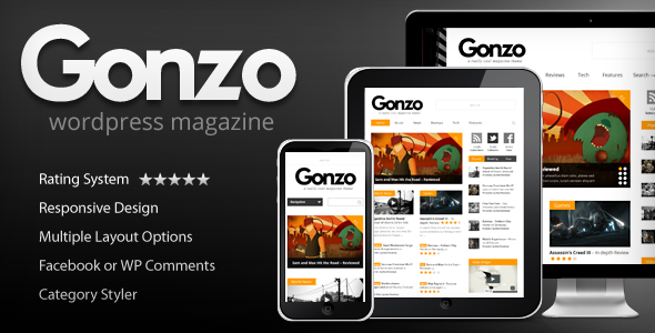 Gonzo magazine wordpress theme