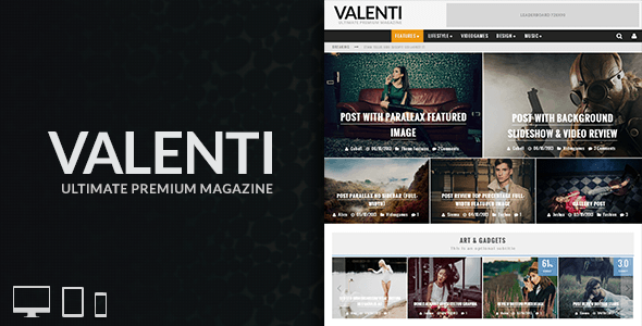 Valenti – WordPress HD Review Magazine Theme