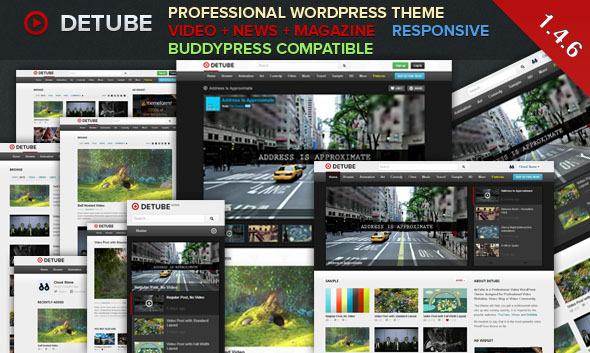 deTube - Professional Video WordPress Theme