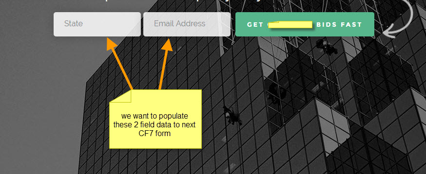 How to pass or auto-populate data from one Contact Form 7 to another form